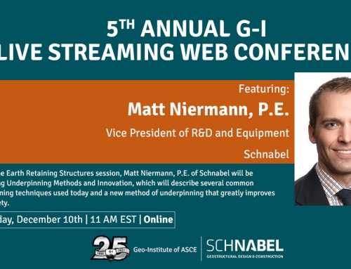 SCHNABEL PRESENTING AT THE 5TH ANNUAL G-I WEB CONFERENCE