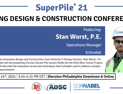 Schnabel Presenting at the DFI SuperPile' 21 Conference!